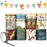 24 Rouleaux Washi Tape Set, Décoratif Masking Tape, Washi Tape Japonais en Washi, Ruban Adhésif Washi Papier pour Les Arts, B