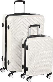 AmazonBasics – Trolley mit geometrischem Muster, 2-teiliges Set (55 cm, 78 cm), Cremefarben