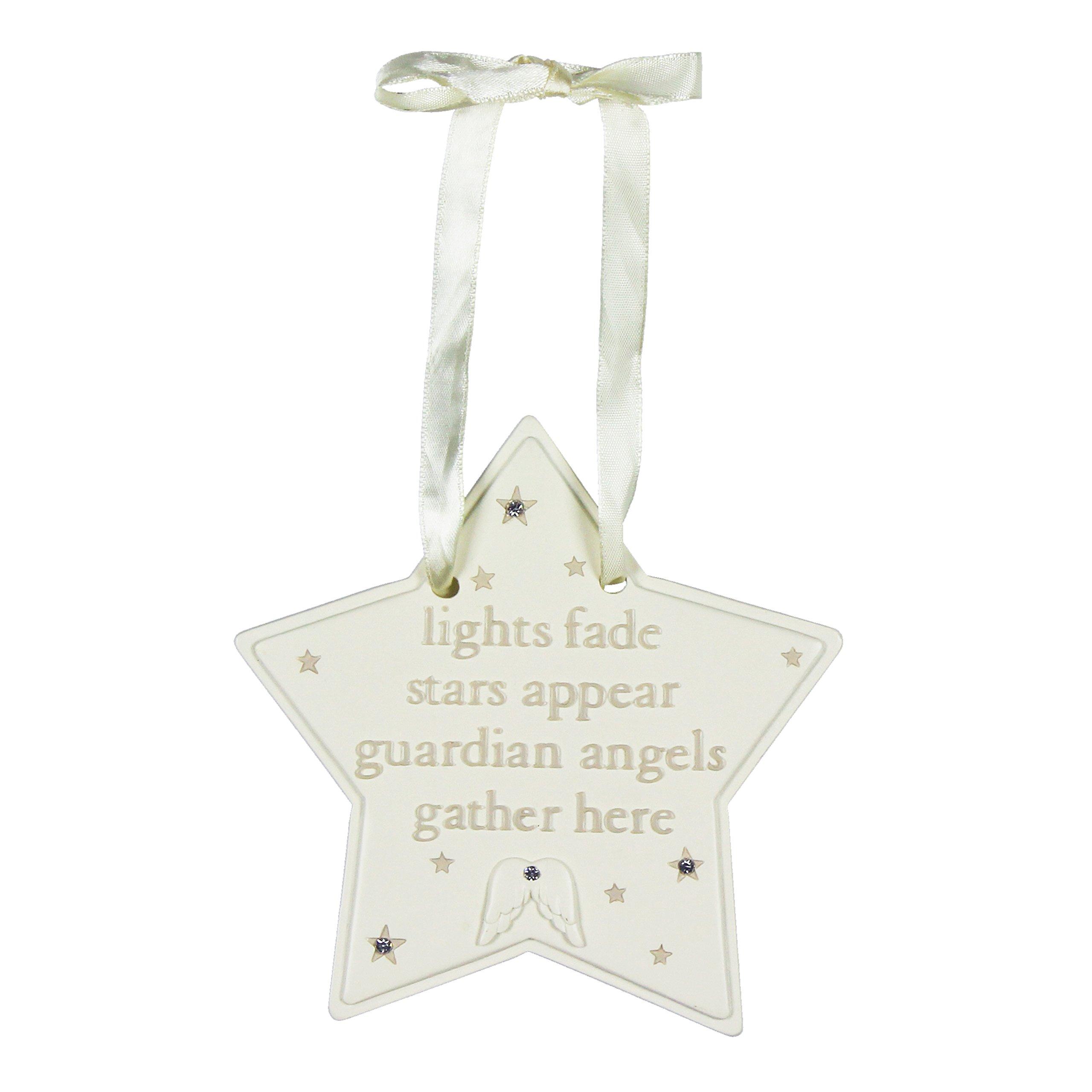 Bambino Angelo Custode Star Placca–Decorazione Luci Fade stelle Appear Angeli Custodi raccogliere