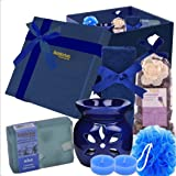 BodyHerbals Lavender Soap Spa Set - Stress Relief Bath & Body Care Kit (Lavender Bathing Bar 100gms, Face Terry Towel, Aroma