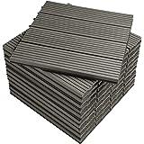 WOLTU WPC Composiet Terrastegels Set van 11 Kliktegels Houtlook Balkontegels - Lichtgrijs, 30 x 30 cm (1 m²), GTF001hgr