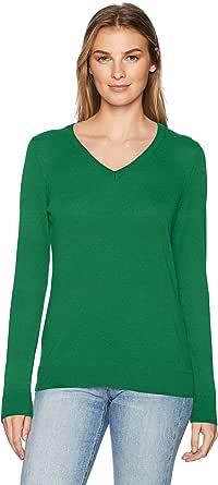Amazon Essentials Lightweight V-Neck Sweater Donna
