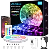 Anmossi LED Strip Light 10m,Smart Bluetooth LED Lights Strip Music Sync,RGB Colour Changing LED Strip Light with Remote,App C