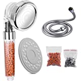 Ionische Douchekop Handheld Hogedruk Waterbesparende 3 Modes Verstelbare Filter Douchekop, Bevat RVS Slang met Extra Vervangb