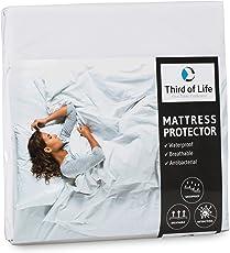 Third of Life Matratzenschoner wasserdicht | Atmungsaktive Matratzen-Auflage | Anti-Milben Bezug unter Spann-Bettlaken | Wasserundurchlässiger Matratzenschutz | Hygienischer Matratzen-Topper
