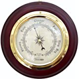 ClimeMET CM4202 Traditional Mahogany Wood Surround Forecaster Barometer.