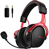 Mpow Air 2.4G Cuffie Gaming per PS5/PS4/PC Cuffie per Computer con Driver a Doppia Camera Cuffie Over-Ear con 3D Bass con Mic