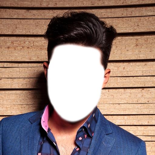 Foto Album Frau Und Herr (Man Hair Style Foto-Montage)