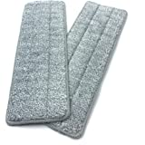 Flat Mop Pads, Washable and Super Absorbing Microfibre Mop Pads for All Floor Types (Pack of 2 Mop Refill Pads)