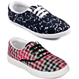 ASIAN Multicolor Walking Shoes,Running Shoes,Casual Shoes,Canvas Shoes,Sneakers,Loafers Combo Pack of 2 for Women UK-7