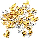 Alevan Art Jewellery Making Lobster Clasps Claw Hooks for Necklace and Bracelet 6 Mm Silver & Gold (25 Pcs Each)