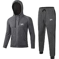 MEETYOO Maglietta Compressione Uomo, Leggings Sportivi Maglie Manica Corta Pantaloni Palestra T Shirt per Corsa Ciclismo…