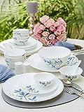 LaOpala Silken Charm Opalware Dinner Set (White) -Set of 35 Pieces