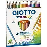 Giotto Stilnovo Triangular Lápices de Colores, Estuche 24 Uds.
