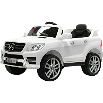 Kalco TOYS UK ML350_12V_White 2018 Mercedes Electric Ride on Kids Car with Remote Jeep