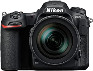 Nikon D500 Digitale Spiegelreflexkamera (20.9 Megapixel, 8 cm (3,2 Zoll) LCD-Touchmonitor, 4K-UHD-Video) Kit inkl. Nikkor AF-S DX 16-80mm 1:2;8-4 E VR ED Objektiv