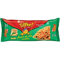 Sunfeast YiPPee! Power Up Atta, Whole wheat   instant noodles   Easy, nutritious meal   Four in One Pack, 280g Pack
