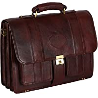 LV Genuine Leather 17 Inches Laptop Briefcase Bag 16 Inch Laptop Compartment 22 Liters Capacity Expandable Features…