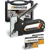 Hinrichs Graffettatrice per Legno - Graffatrice Manuale con Valigetta - Sparachiodi con Chiodi e Graffette