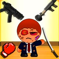 Kill The Bad Stickman Boss 1 (a ragdoll physics style blast game)