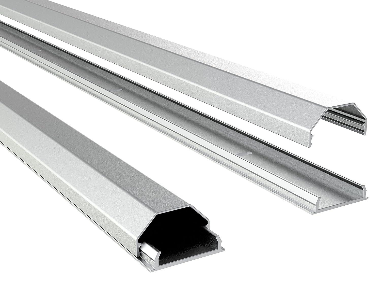 Ricoo Z0100 Goulotte Cache C Bles En Aluminium Pour Support  # Etagere Cache Cable
