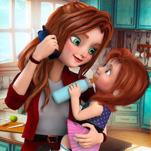 Virtual Mother Family Spiel Working Mom Simulator 3D: Mama Kindertagesstätte Abenteuerspiele für Mädchen kostenlos 2018