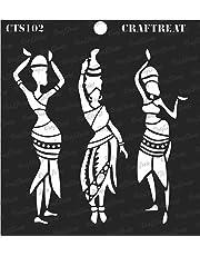 """thecraftshop Craftreat Stencil - Tribal Dancers 6"""" X 6"""""""