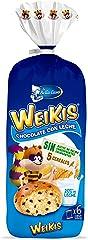 Weikis Chocolate con Leche 6 - Paquete de 6 x 42 gr - Total: 252 gr