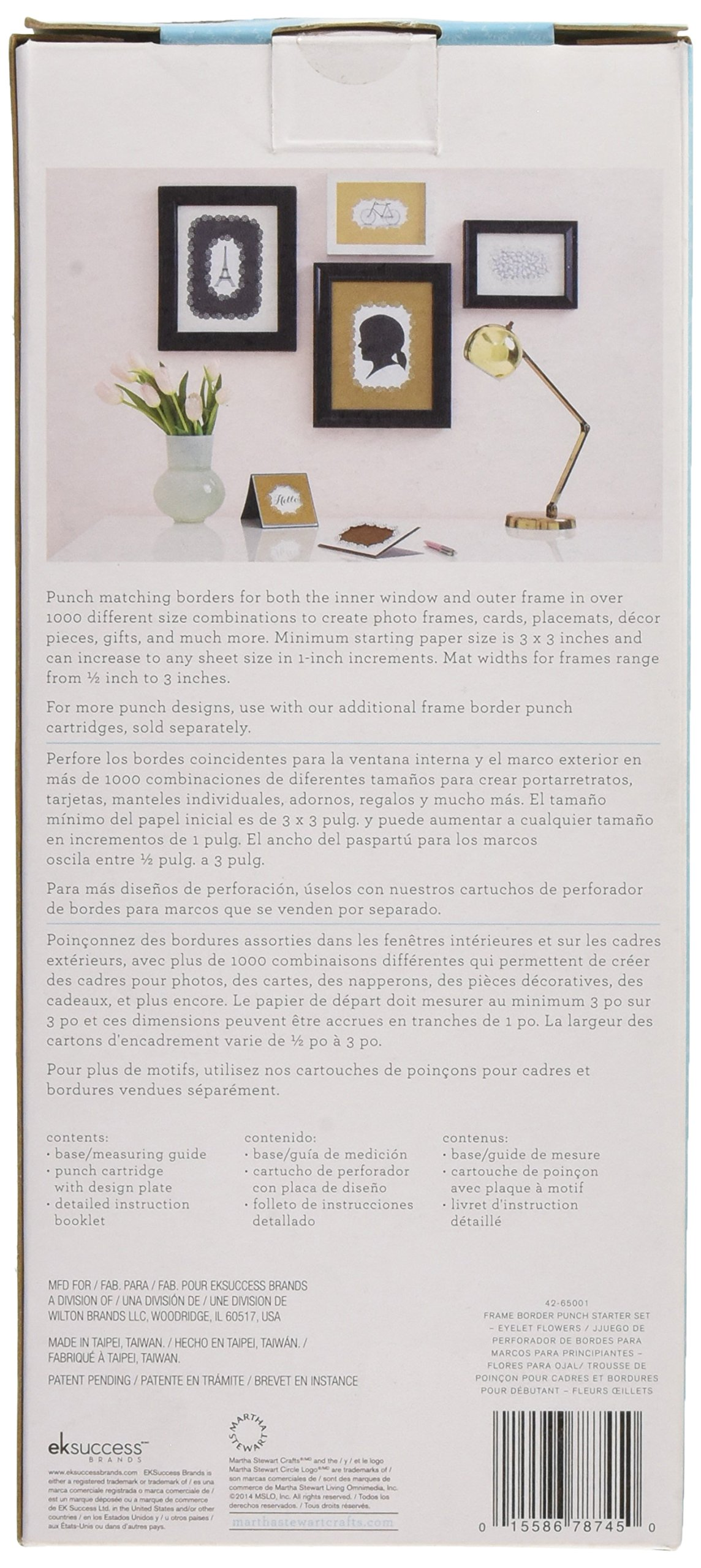 81OzvFy1gzL - Martha Stewart-Cornice in plastica Punzone decorativo per bordi, motivo: fiori di occhielli, per principianti