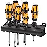 Wera Zestaw wkrętaków 932/918/6 Kraftform Plus: dłuto śrubowe + stojak, 6-częściowy, 05018287001