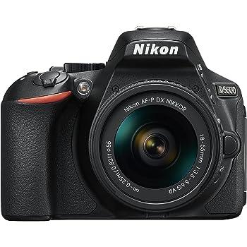 """Nikon D5600 Fotocamera Reflex Digitale con Obiettivo AF-P DX NIKKOR 18-55mm VR, 24,2 Megapixel, LCD Touchscreen ad Angolazione Variabile 3"""", Nero"""