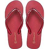 Walk Diary Womens Sandals Slim Flip Flops Beach and Pool Shoes