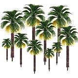 16 st blandade modellträd, plast palmträd växtmodell, byggnad park trädgård miniatyrlandskap, Diorama modeller tåg järnväg sc