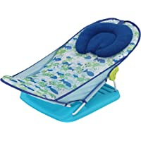 LuvLap Friendly Turtle Baby Bather for Newborn and Infants, Compact and Foldable, 0-9 Months (Blue)