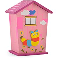 Piggy Bank for Kids, Wood Money Safe House, Colourful Animal Designs, Perfect for Party Favors, Children Birthday Return…