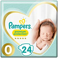 Pampers Premium Protection Size 0, 24 Nappies, Pampers Softest Comfort, Approved By British Skin Foundation, 1.5-2.5 kg…
