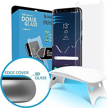 Galaxy S8 Plus Protezione Schermo Vetro temperato,[Tecnica dispersione liquida] 3D Curvo Vetro a Cupola Copertura Completa, Kit di Installazione Facile e Luce UV della Whitestone per Galaxy S8 Plus