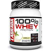 Labrada 100% Whey Protein Concentrate (26g Protein, 0g Sugar,13 Servings) - 1.1 lbs (500g) (Vanilla)