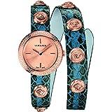 Versace Medusa Stud Icon Quartz Rose Gold Dial Ladies Watch VERF00418