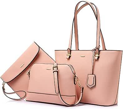 Damen-Handtaschen, Schultertaschen, Tragetasche, Hobo 3-teiliges Geldbörsen-Set