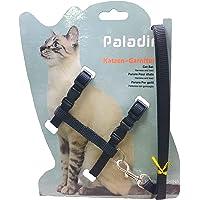 PetFun Adjustable Cat Body Harness Leash Nylon Set for Cats, Kitten & Puppy 10mm Pack of 1 ( (Black)