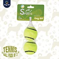 Goofy Tails Sport Squeaky Tennis Ball for Small Dogs (Yellow) - Pack of 2