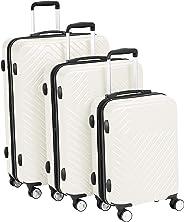 AmazonBasics Geometric Hard Shell Expandable Luggage Trolley Suitcase Set
