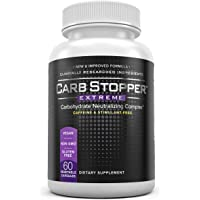 CARB STOPPER EXTREME - High Performance Carbohydrate & Starch Blocker Formula/Diet, Fat Loss, Slimming Supplement with…