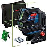 Bosch Professional Measurement lijnlaser GCL 2-50 G (groene laser, binnengebruik, houder RM 10, zichtbaar werkgebied: tot 15