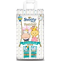 Sweety Fit Pantz Gold Series Baby Large Diapers, Super Jumbo Pack, Count 34