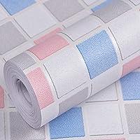 Wolpin Wall Stickers Wallpaper (45 x 300 cm) Waterproof Bathroom, Kitchen Tiles Pattern, Stove Backsplash, Countertop…