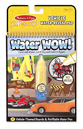 Buy Melissa and Doug Water Wow Coloring Book Vehicles Online at ...