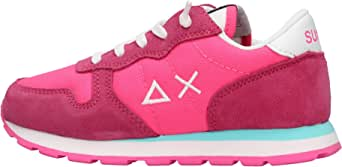 SUN 68 Ally Nylon Solid Sneaker Bianca da Bambino Z30401-20