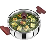 Hawkins Tri-Ply Stainless Steel Cook n Serve Handi with Glass Lid, 3 Litre (SSH30G)